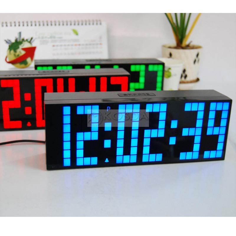 Wall Clock Table Desktop Cock Large Digital Jumbo LED Alarm Wall