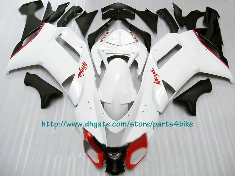 Il prezzo è basso Carenature bianche rosse Kawasaki Ninja 2007 2008 ZX6R Zx-6r ZX 6R 07 08 RX1c 1C