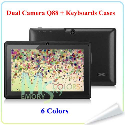 7 Inch q88 A23 A33 Quad Core Allwinner A33 Android 4.4 Dual Camera 7 inch Capacitive A23 tablet pc 1.5GHz 512M 4G Kids Tablets Pad 002609