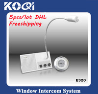 Wholesale Bank Intercoms - 5pcs DHLFreeshipping window intercom dual-way interphone Bank window intercom system