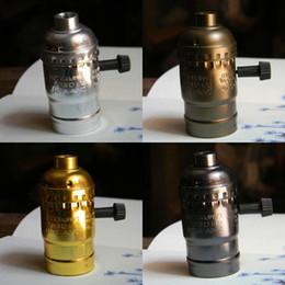 Wholesale Electric Light Sockets - 20 antique vintage edison style light bulb electric light socket UL listing