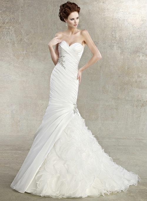 2013 Customized Mermaid Wedding Dresses Online Sweetheart Satin