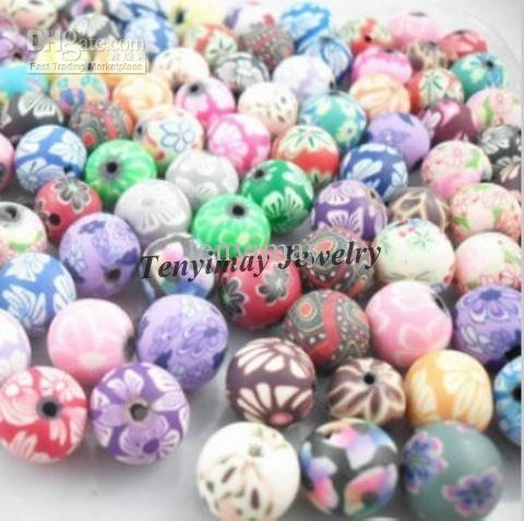 12mm Argile Perles Couleur Mixte De Mode Argile Bijoux Accessoire Livraison Gratuite