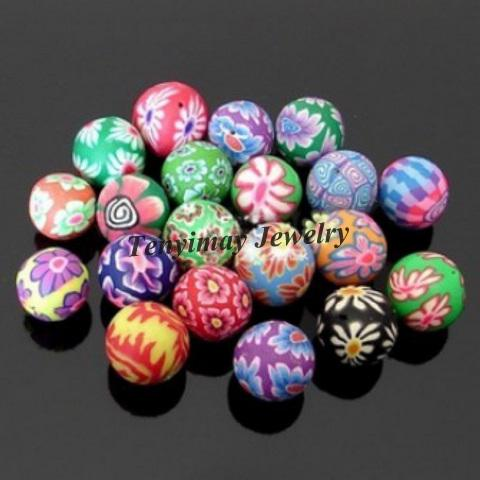 Wholesle Misturado Cor 20mm Polímero Clay Beads Para DIY Frete Grátis