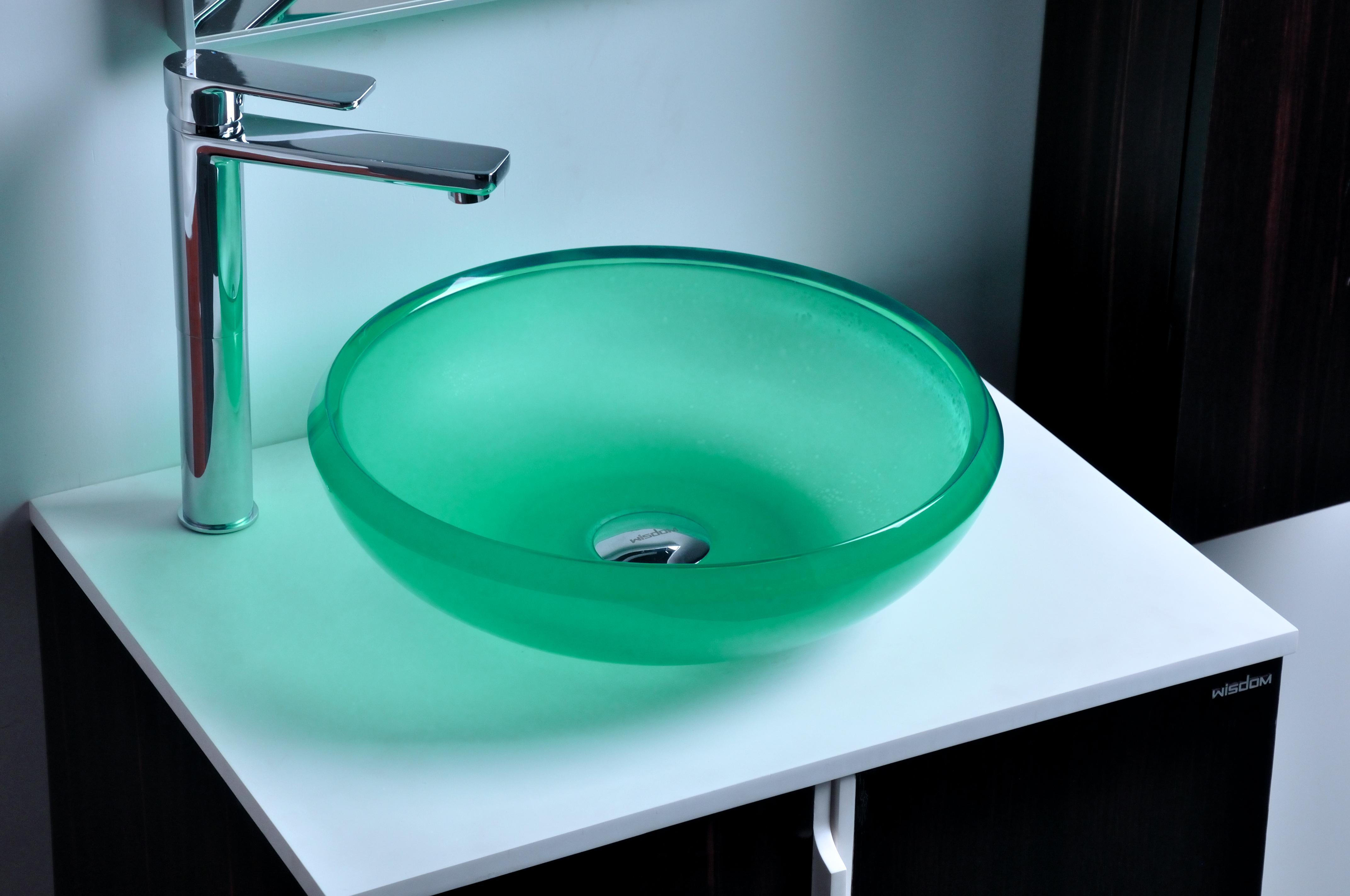 2018 cupc certificate resin round counter top sink colored for Dining room sink designs