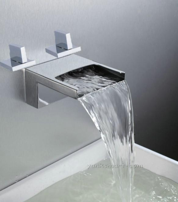 2019 Waterfall Bathtub Basin Sink Spout Mixer Tap Chrome