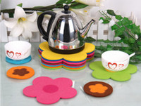 Wholesale Promotional Coffee - New Fashion Colorful sunflower Shape Coffee Coaster Cup Coaster promotional Coaster cup mat