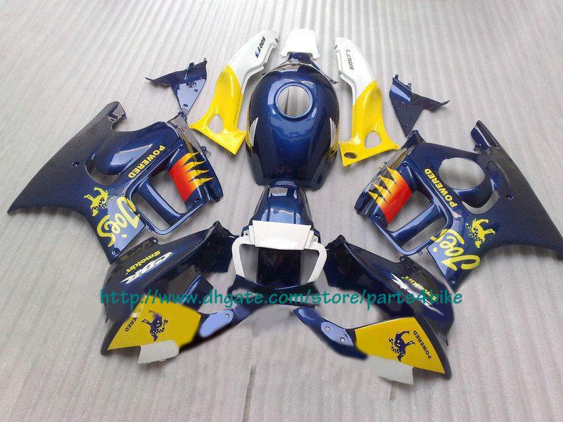 Carenagem de moto de corrida laranja azul para Honda CBR600 1997 1998 CBR 600 F3 CBR-600 F3 97 98 RX1z