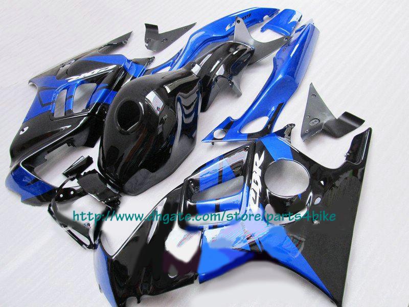 NUEVO Vendemos mejores carenados azul negro para Honda CBR600 F3 1997 1997 CBR 600 F3 CBR-600 F3 97 98 RX1x