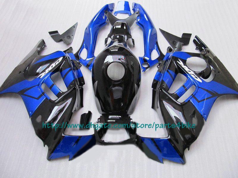 جديد نبيع أفضل fairings أسود أزرق لهوندا CBR600 F3 1997 1997 CBR 600 F3 CBR-600 F3 97 98 RX1x