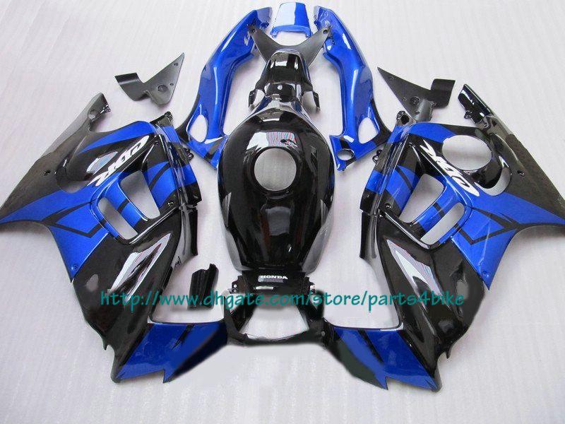 NEW We sale best blue black fairings for Honda CBR600 F3 1997 1997 CBR 600 F3 CBR-600 F3 97 98 RX1x