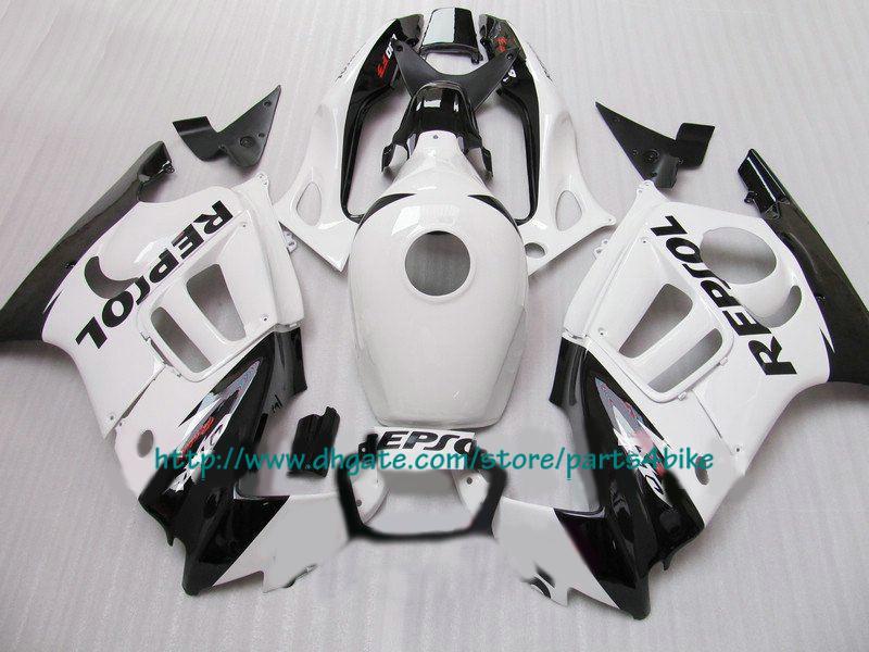 Popüler çin CBR600 F3 1997 1997 beyaz CBR 600 F3 CBR-600 F3 97 98 RX2x 2x beyaz kaporta