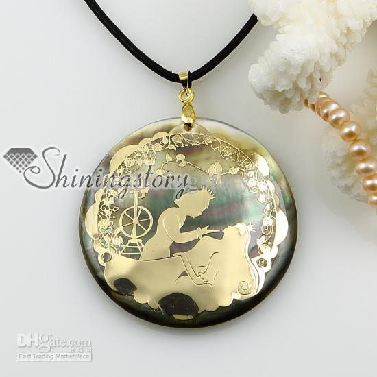 Wholesale round shell pendants wholesale mother of pearl jewelry see larger image aloadofball Image collections