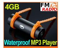 Wholesale 4gb Waterproof Sport Mp3 Player - 4GB Swimming Diving Water IP*8 Waterproof MP3 Player FM Radio Earphone Free Shipping wholesale