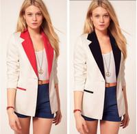 Wholesale Slimming Batch - HOT Suits!! Women's A Buckle Slim Casual Candy colors Suit Jacket Blazer S M L Mixed Batch 2 color
