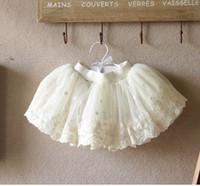 Wholesale Girls Veil Lace Skirts - Girls Veil Lace Skirts Beige Skirts Princess Skirt Puff TUTU Children's Clothing