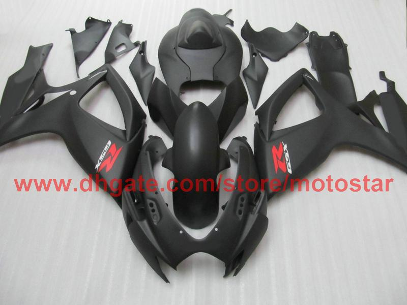 Injection for matte black SUZUKI GSXR 600 750 2006 2007 GSX-R600 GSX-R750 06 07 K6 full fairing kit