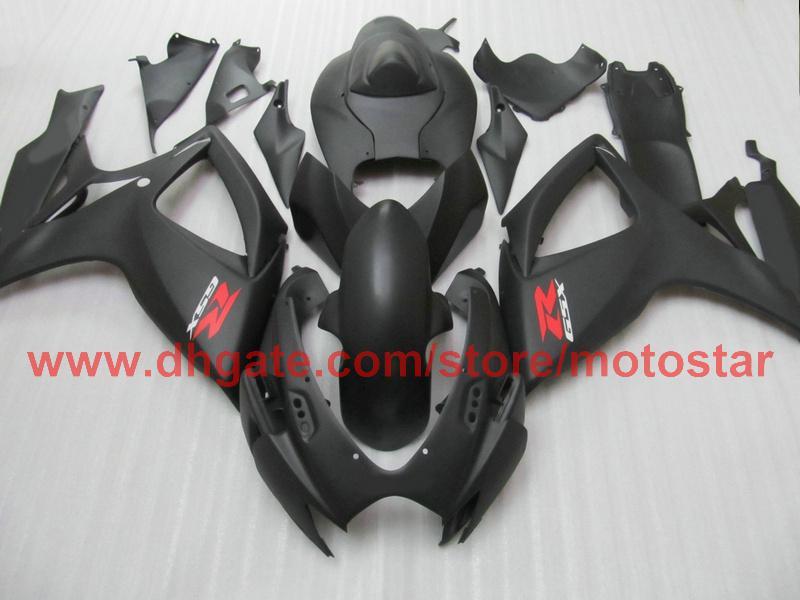 Matte Black Suzuki GSXR 600 750 2006 2007 GSX-R600 GSX-R750 06 07 K6フルフェアリングキット