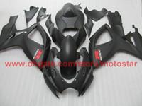 carcaça gsx venda por atacado-Injecção para preto mate SUZUKI GSXR 600 750 2006 2007 GSX-R600 GSX-R750 06 07 kit de carenagem completo K6