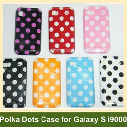 Wholesale Galaxy S Cases Dots - Wholesale Polka Dots Soft TPU Gel Cover Phone Case for Samsung Galaxy S i9000 I9001 Free Shipping