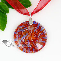 Wholesale Craft Murano - round with lines murano glass cross pendant Mens fashion jewelry Fashion jewelry necklace handmade craft jewellery