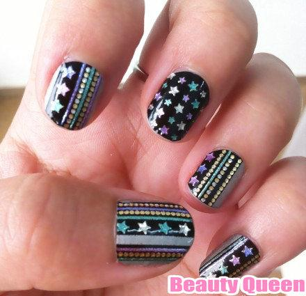 High Quality! Newest Nail Wrap Wraps Decal Jeweled Strips Shiny Crystal Decals Nail Polish Foils Sticker Patch Tips Appliques Patch 2014 NEW