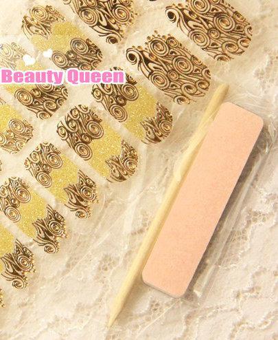 Gute Qualität! Neueste Nail Wrap Wraps Aufkleber Jeweled Streifen glänzenden Kristall Abziehbilder Nagellack-Folien-Aufkleber-Flecken Tipps Applikationen Patch-2014 NEU
