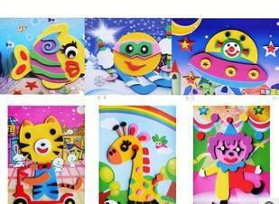 2018 Wholesale Kids Diy Craft Kits Eva 3d Sticker Ornament Animal Puzzles Children Framed From Misszhouxl 2786