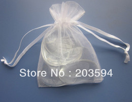Wholesale Gift Bag Organza Xmas - Wholsale 300pcs Organza Wedding Gift Luxury Organza Wedding Favor Xmas Gift Bags Jewellery Pouches 7x9cm
