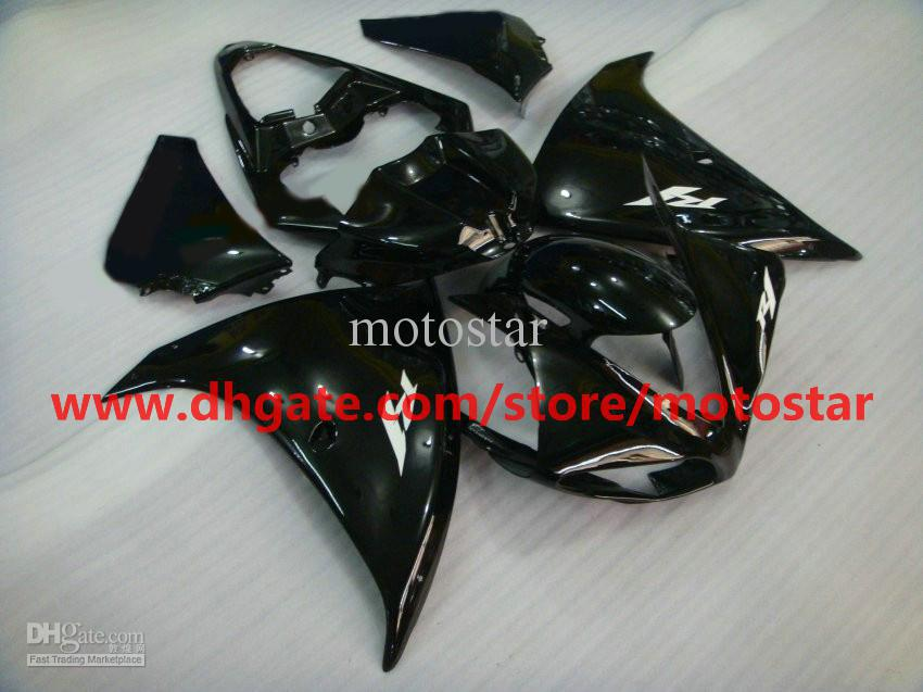 black hot saleInjection molded for YAMAHA 2009 2010 2011 YZF-R1 09 10 11 YZF R1 fairings kit K1A1