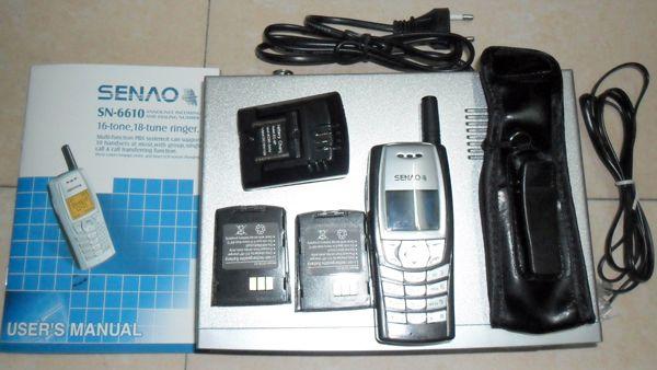 DHL grátis SENAO SN-6610 telefone sem fio portátil SN 6610 1 base +2 fone extra Duplex Intercomunicador