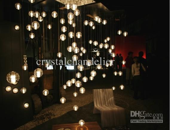 36 Lights New Modern Clear Cast Glass SphereBall Chandelier With