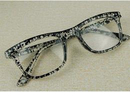 Wholesale Retro Nerd Glasses - 2017 Good Quality Fashion Glasses Frames Retro Glasses Frames Nerd Optical Frame With No Power Lens 20pcs Free Shipment