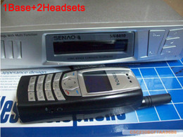 Wholesale Handset Base - DHL Free SENAO SN-6610 handheld cordless phone SN 6610 <1 base +2 extra handset Duplex Intercom>