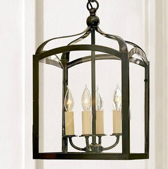 discount modern nordic minimalist black iron birdcage chandelier balcony vestibule pendant lamp dia 30cm hanging lights from ceiling pendant light bulbs - Birdcage Chandelier