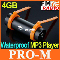 Wholesale Diving Water Waterproof Swimming Mp3 - 4GB Swimming Diving Water IP*8 Waterproof MP3 Player FM Radio Earphone Free Shipping