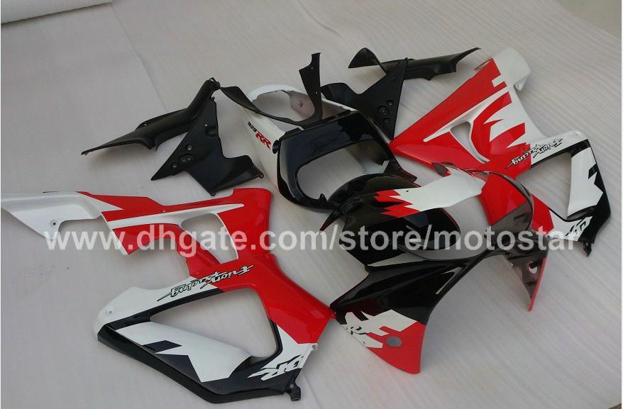 CBR900RR 용 고품질 흰색 빨간색 맞춤형 페어링 키트 929 2000 2001 CBR900 929RR CBR929 00 01 CBR929RR 바디 수리 페어링 키트
