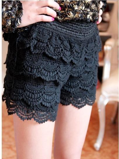 2017 Fashion Womens Sweet Cute Multi Layered Lace Openwork Crochet ...