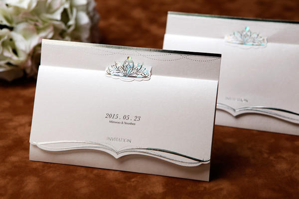 free shipping 100pcslot 2013 newest cheap wedding invitation card bh1069