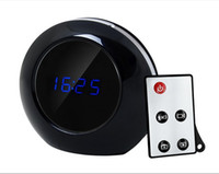 Wholesale Spy Camera Clock Dhl - 1280x960 Spy Clock Camera MINI DV DVR Hidden Video Camcorder HD Camera V8 Mirror Alarm Clock Motion Detetion Miror 5PCS LOT By DHL