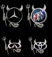 Wholesale Devil Car Bumper Stickers - Wholesale - Car Stickers for car Car decal Little Devil stickers PVC car 3D stereo bumper stickers