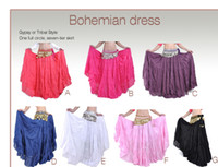 Wholesale Belly Dance Ruffled Skirts - Belly Dance Tiered Skirt 7 Gypsy Tribal Dancing