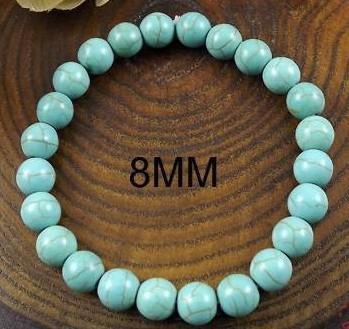 20% de desconto NEW Style! Chinês Turquesa Bead Bracelet 6-14mm Min ordem