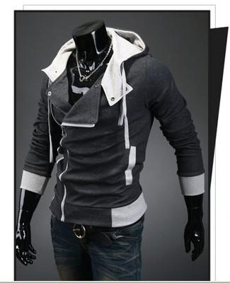 Hot New Assassin's Creed 3 Desmond Milhas Moletom Com Capuz Casaco Top Casaco Traje Cosplay