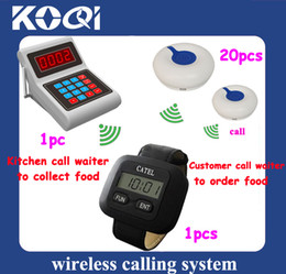 Wholesale Wireless Bell Restaurant - Hot!! Wireless Call Bell System for Restaurant; Kitchen call waiter to get food for Clients