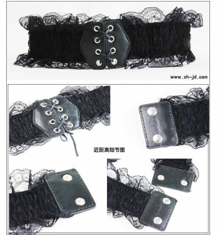 Ladies Belts Lace Black And White Lace Elastic Women Belts