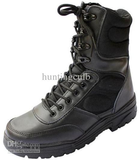 Swat Army Military Desert Combat Tactical Boots Safety Genuine ...