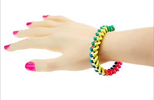 Bracelet d'amitié tressé coloré Bracelet de survie Paracord Freeship