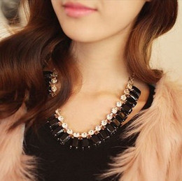 Wholesale Twisted Chunky Choker Necklace - New Hot Black Colorful Statement Bubble Bib Necklace False Collar Chunky Chain From Factory Free shipping
