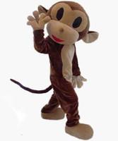 trajes de macaco para adultos venda por atacado-Na venda: Adorável macaco traje da mascote adulto vestido extravagante frete grátis para o Reino Unido